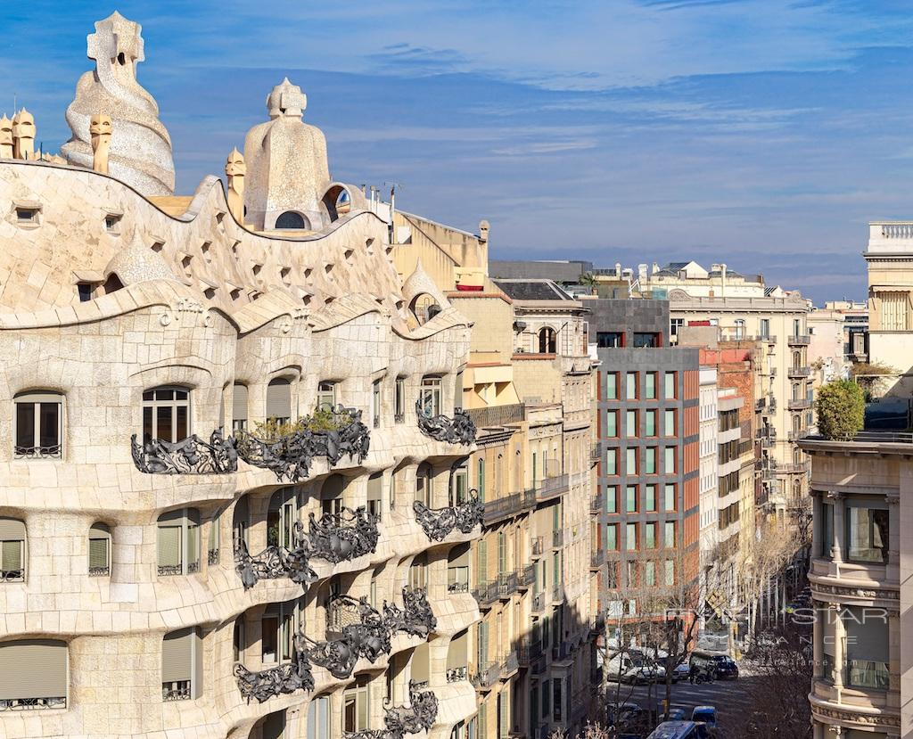 Facade from Casa Mila at The One Barcelona