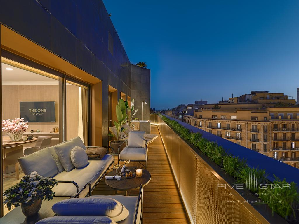 Penthouse Suite Terrace at The One Barcelona