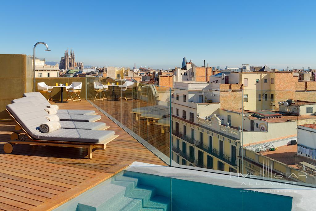 Rooftop Pool at The One Barcelona