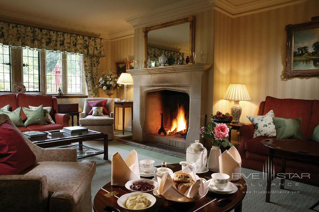 Lounge at Buckland Manor, Worcs, United Kingdom