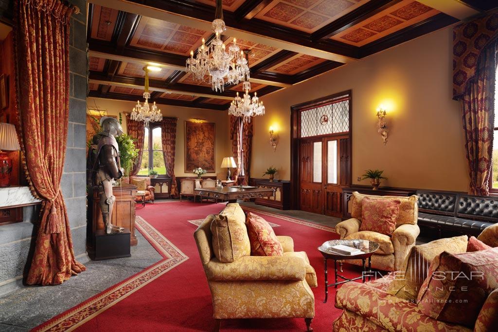 Lobby of Dromoland Castle Hotel, County Clare, Ireland