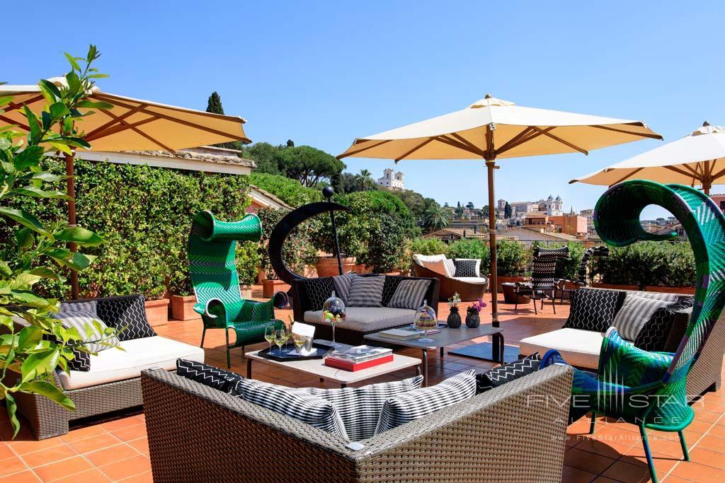 Nijinsky Suite Terrace at Rocco Forte Hotel De Russie, Rome, Italy