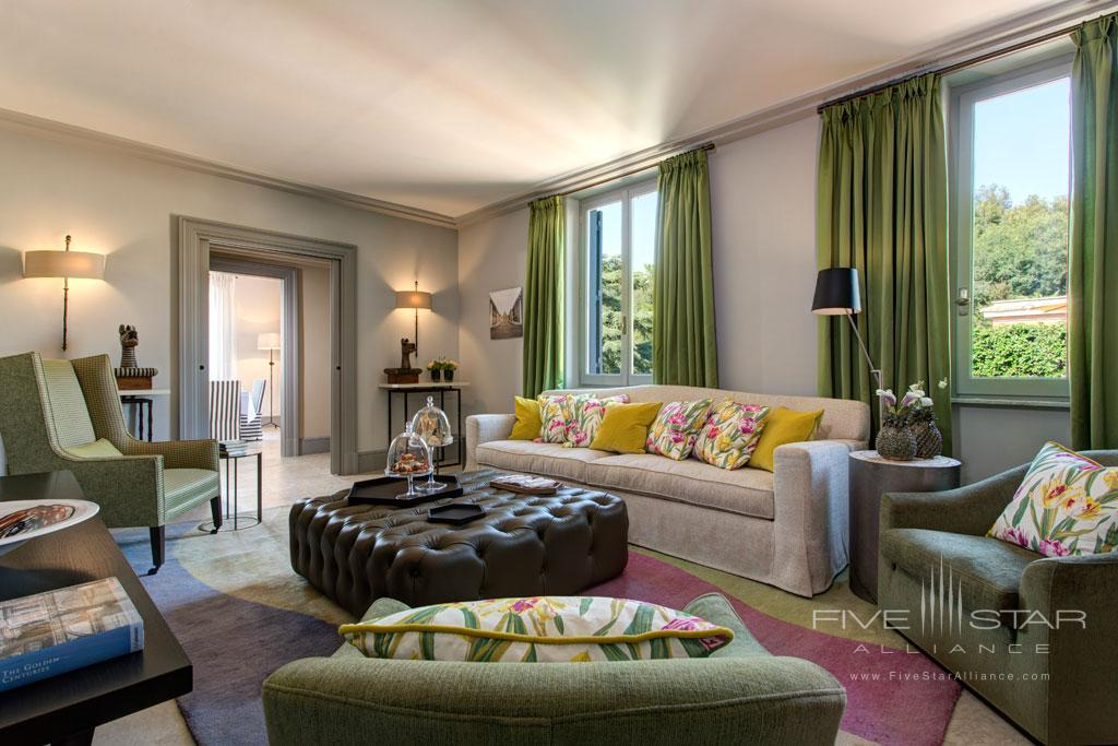Nijinsky Suite Living at Rocco Forte Hotel De Russie, Rome, Italy
