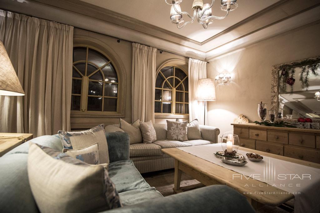 Suite Lounge at Rosa Alpina, Badia BZ, Italy