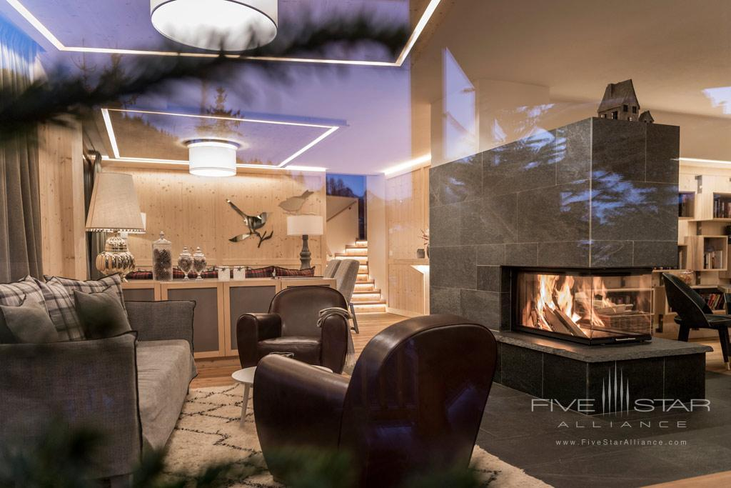 Guest Lounge at Rosa Alpina, Badia BZ, Italy