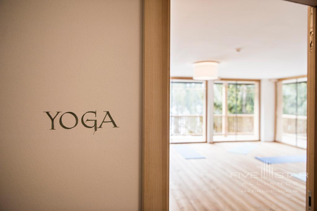 Yoga Studio at Rosa Alpina, Badia BZ, Italy