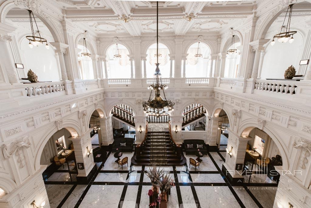 Lobby of InterContinental Amstel Hotel, Amsterdam, Netherlands