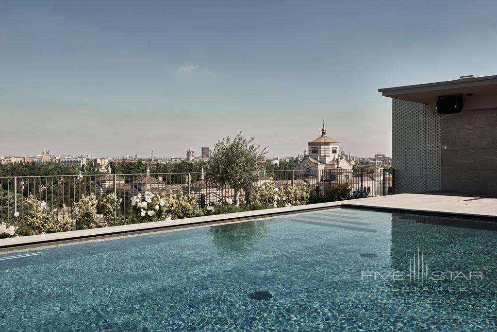 Outdoor Pool at Hotel VIU Milan, Italy