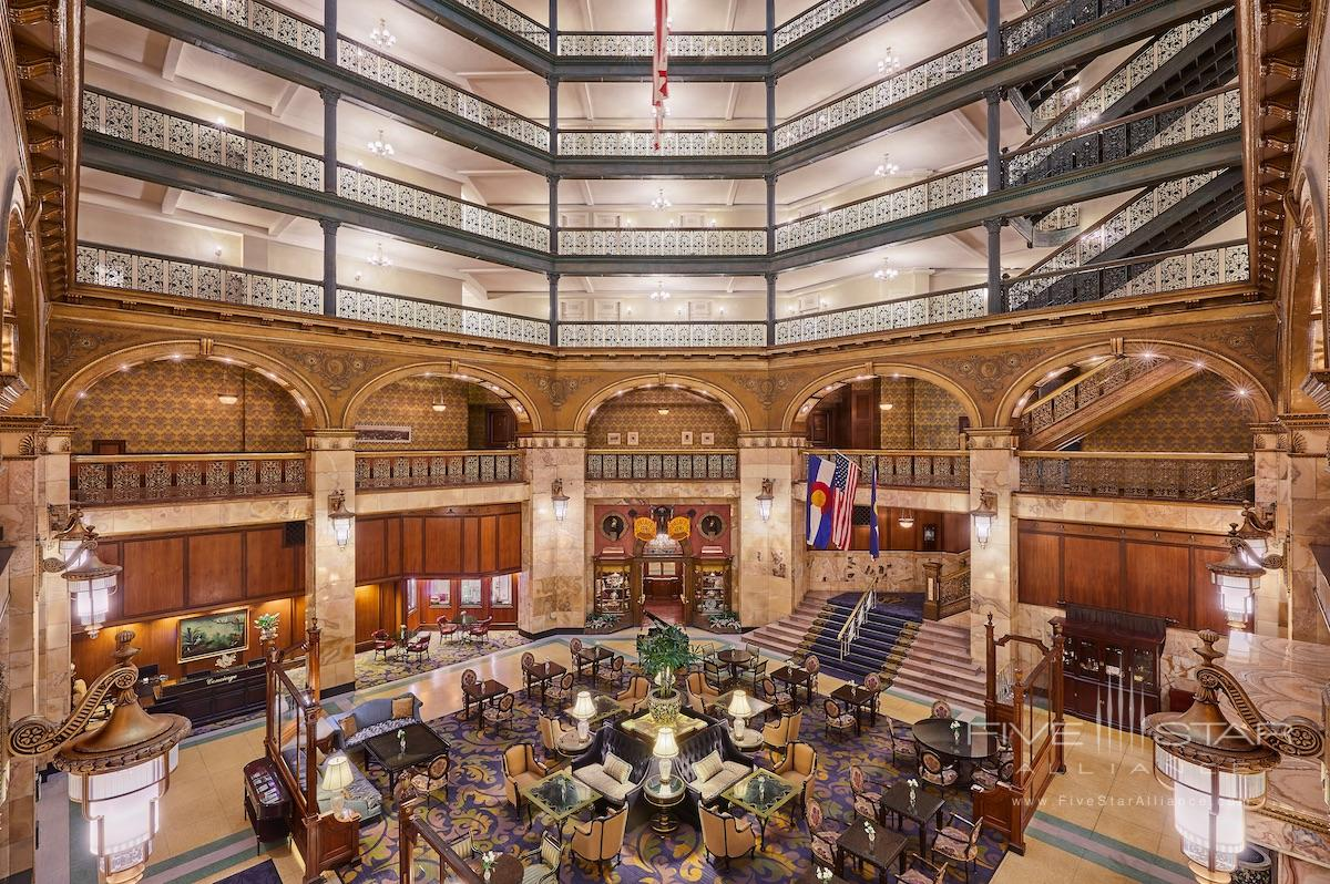 Lobby of the Brown Palace Hotel