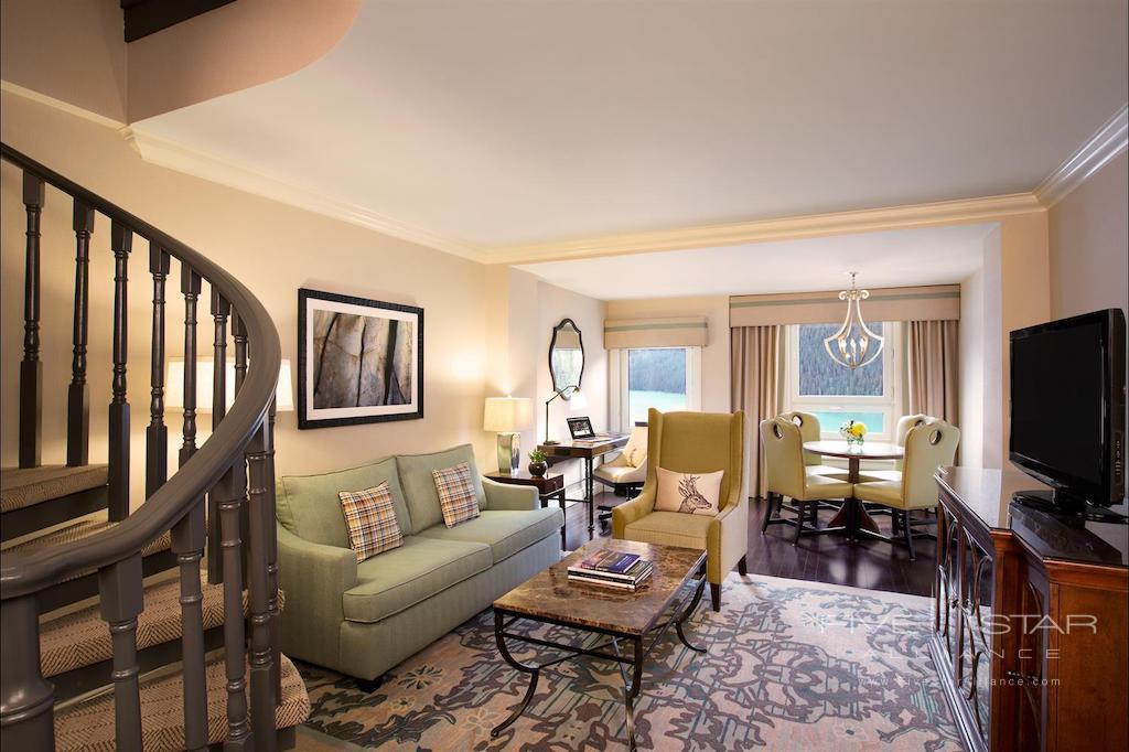 Glacier Suite Living Room at Fairmont Chateau Lake Louise
