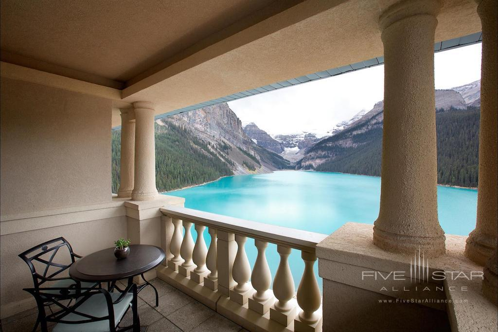 Glacier Suite balcony at Fairmont Chateau Lake Louise