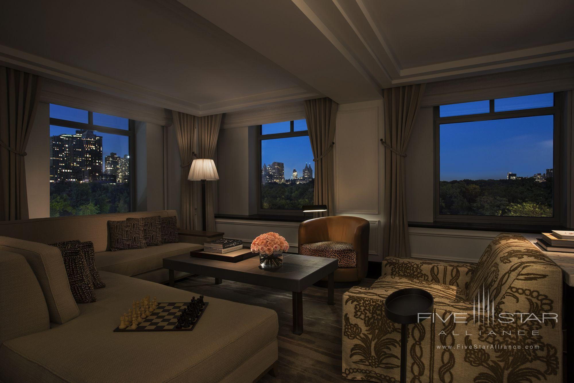 The Ritz-Carlton New York Central Park Royal Suite Living Room