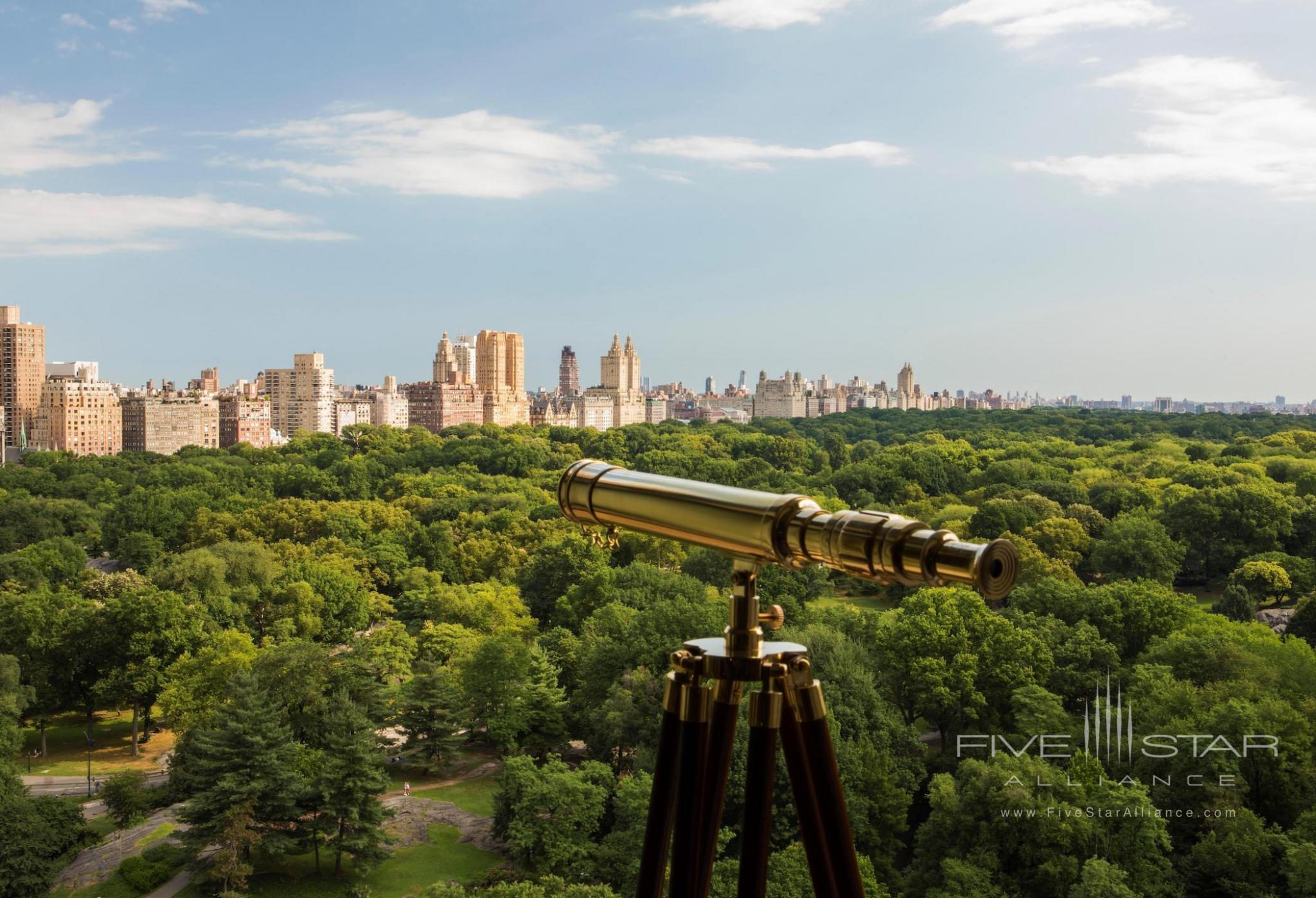 The Ritz-Carlton New York Central Park telescope view of Central Park