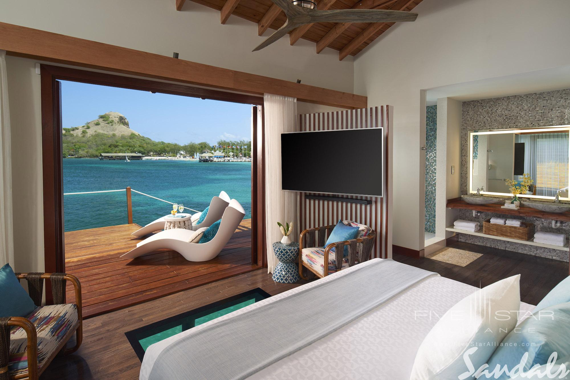 Over-The-Water Bungalow at Sandals Grande St. Lucian