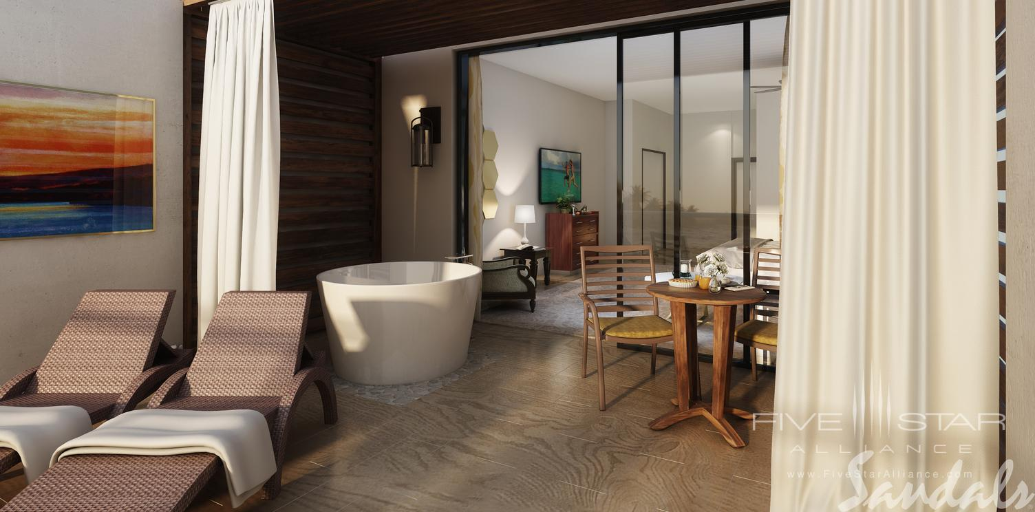 Tranquility soaking tub for two at Sandals Regency La Toc, Castries, Saint Lucia