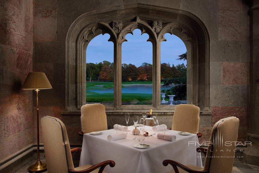 The Oak Room dining at Adare Manor Hotel and Golf Resort