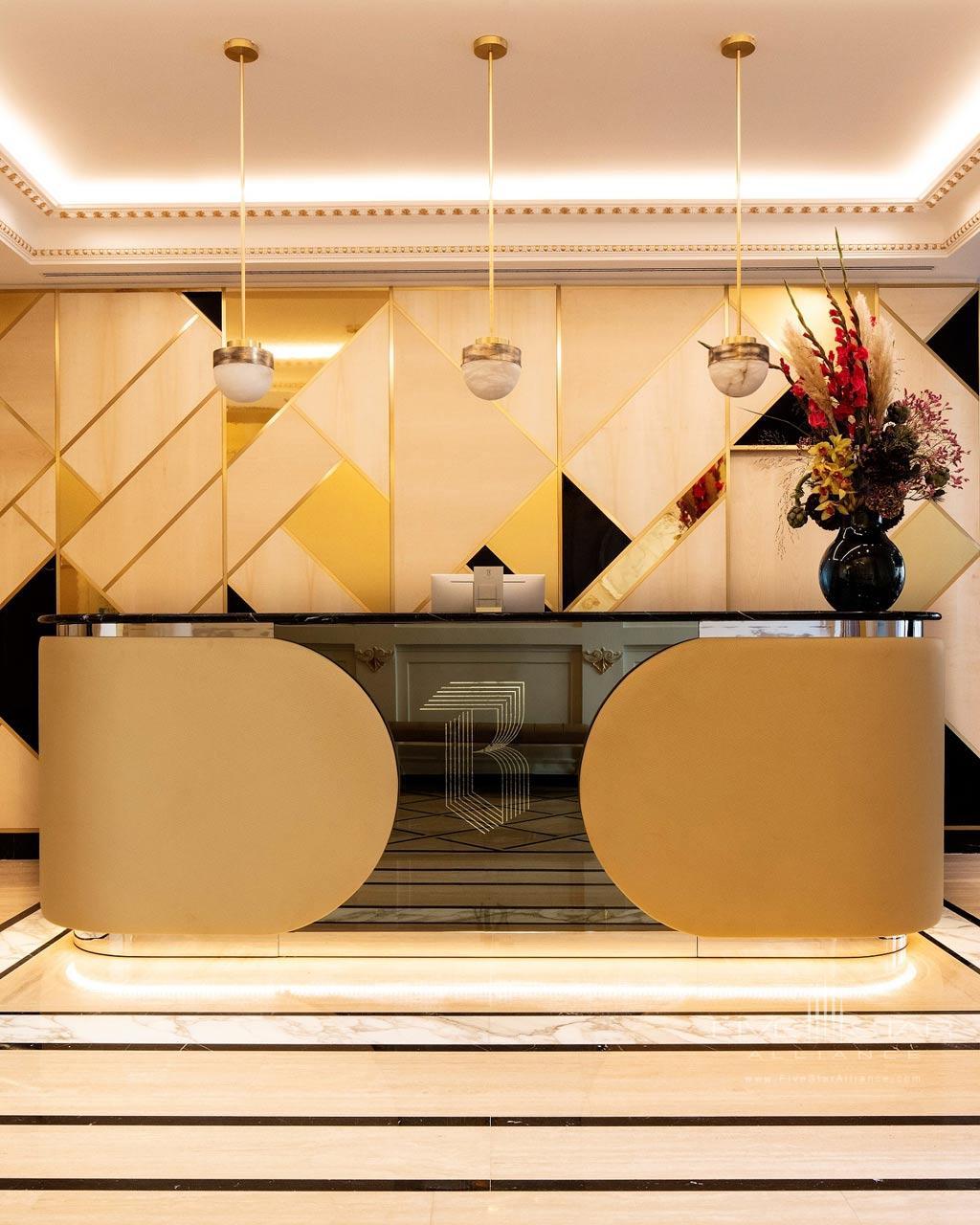 Recetion at Hotel Bowmann, Paris, France