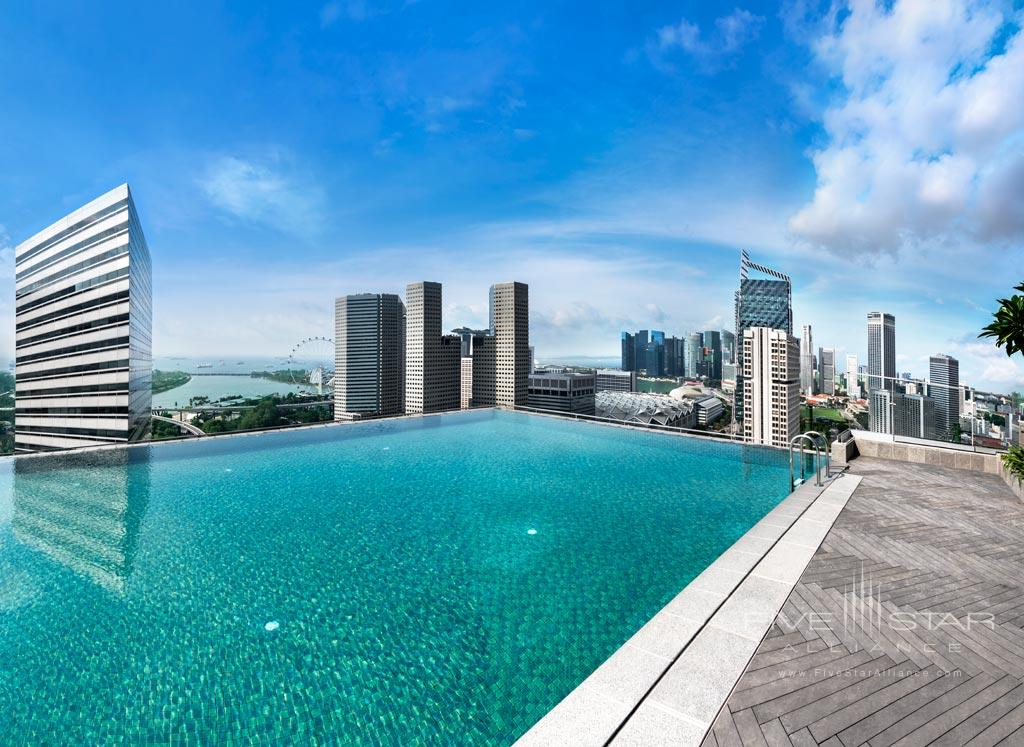 Rooftop pool at Andaz Singapore