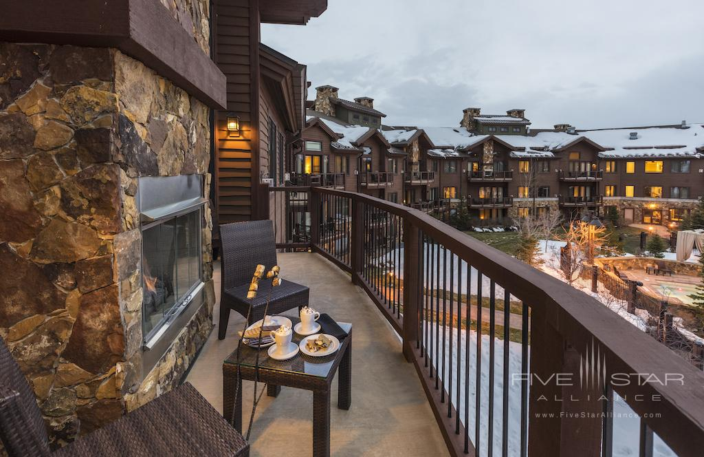 Bi-Level Two Bedroom Suite Balcony at Waldorf Astoria Park City, UT