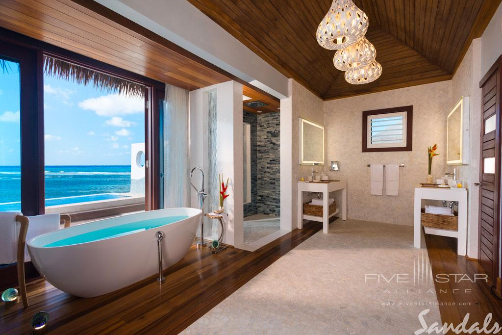 Overwater Villa Bath at Sandals Royal Caribbean, Montego Bay, St. James, Jamaica