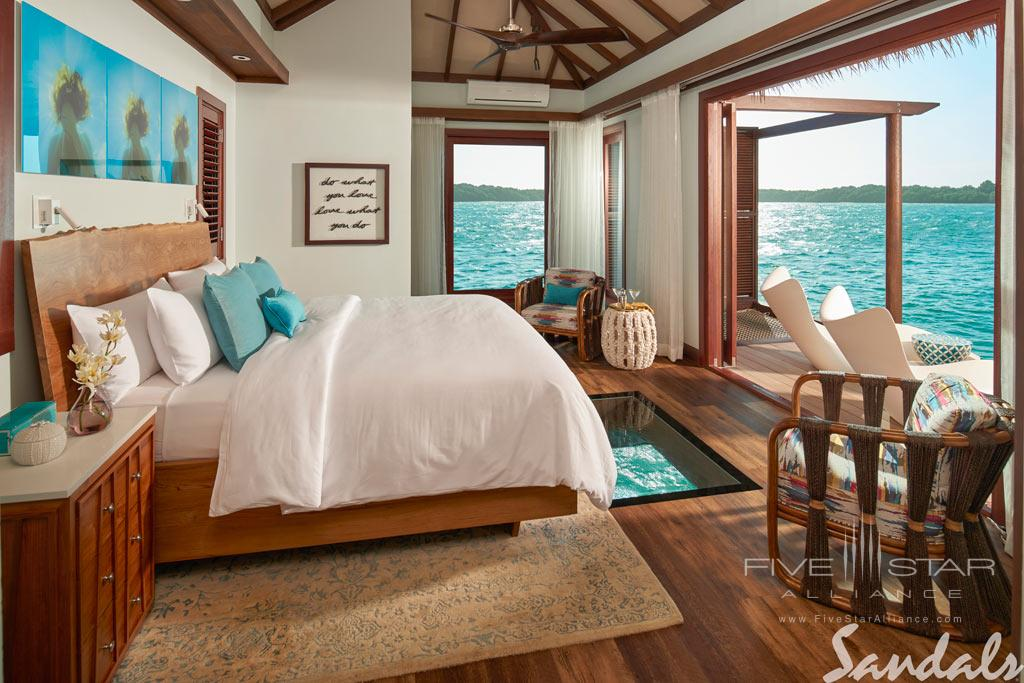 Overwater bungalow at Sandals South Coast