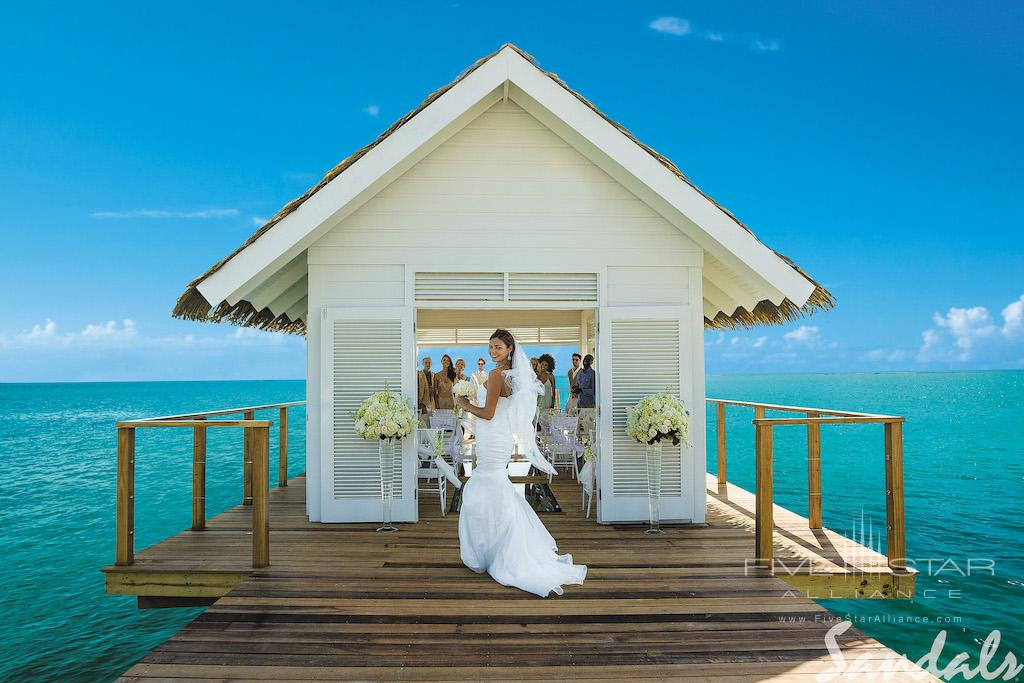 Over-the-Water Chapel at Sandals South Coast