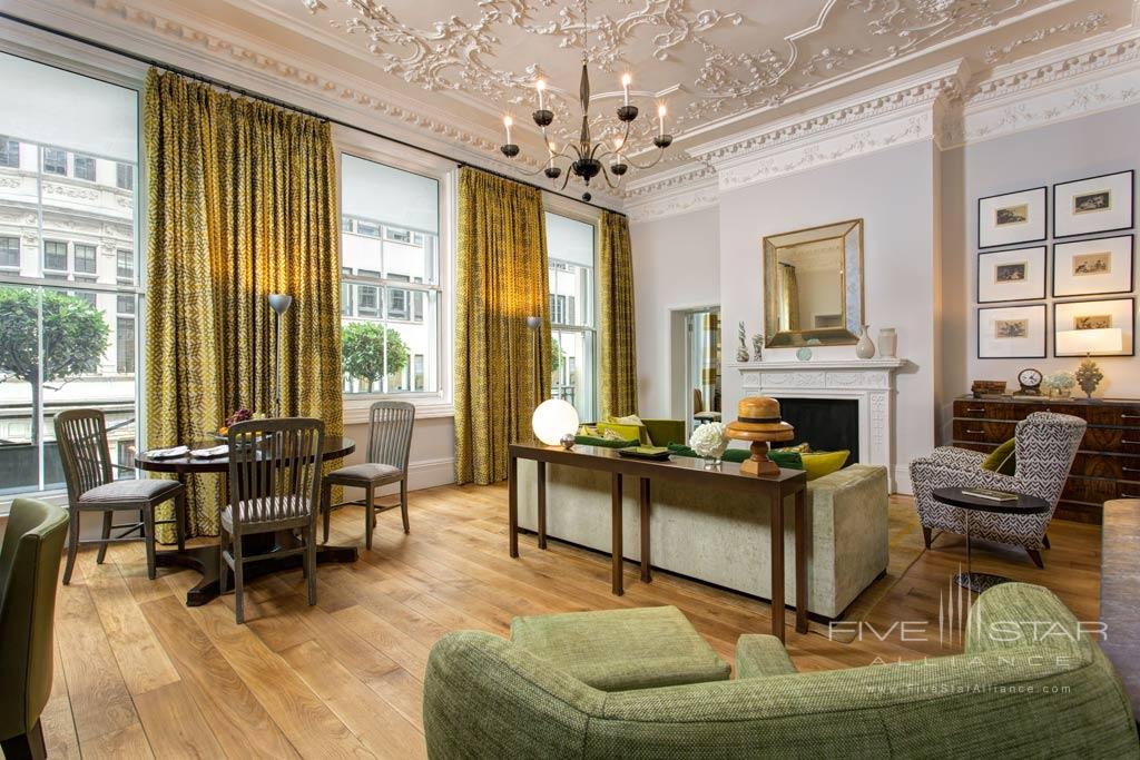 Dover Suite Living Room at Rocco Forte Brown's Hotel London