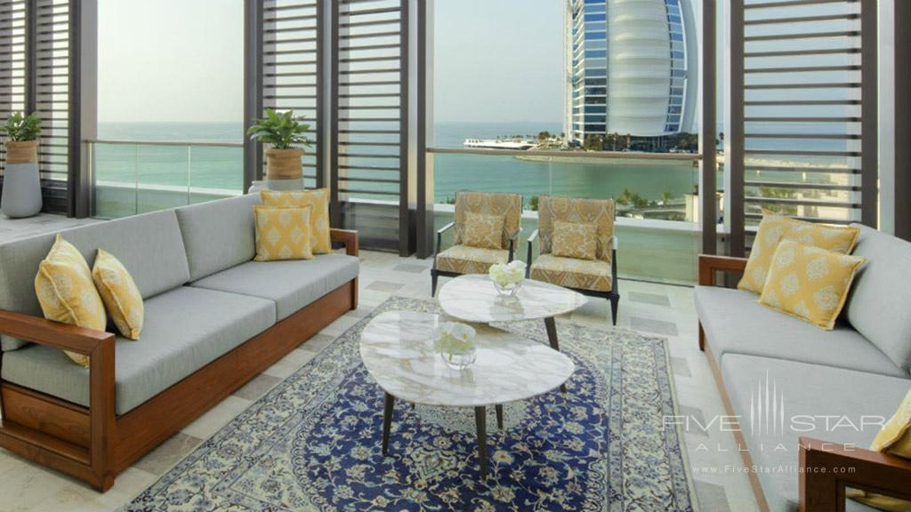 Royal Suite Living Room & Terrace at Jumeirah Al Naseem