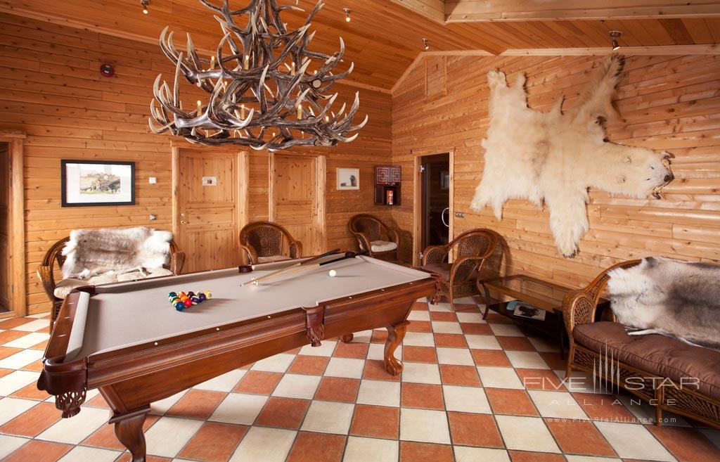 Game Room at Hotel Ranga, Hella, Iceland