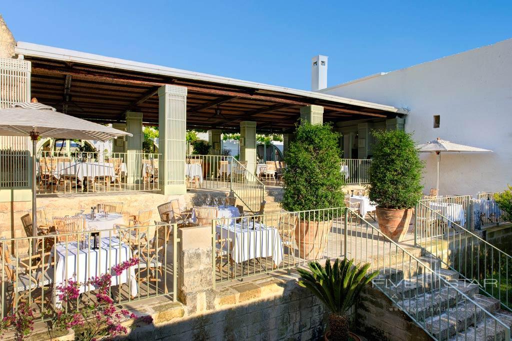 Terrace Dine at Masseria Torre Maizza, Apulia, Italy
