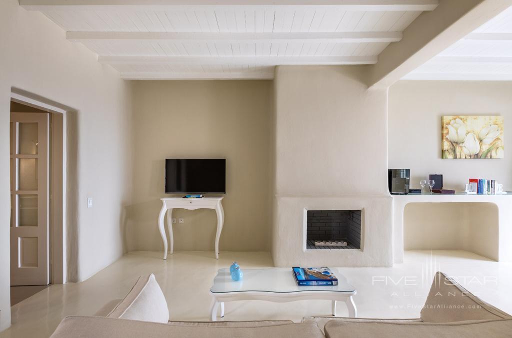 Lounge at Carpe Diem Santorini, Greece