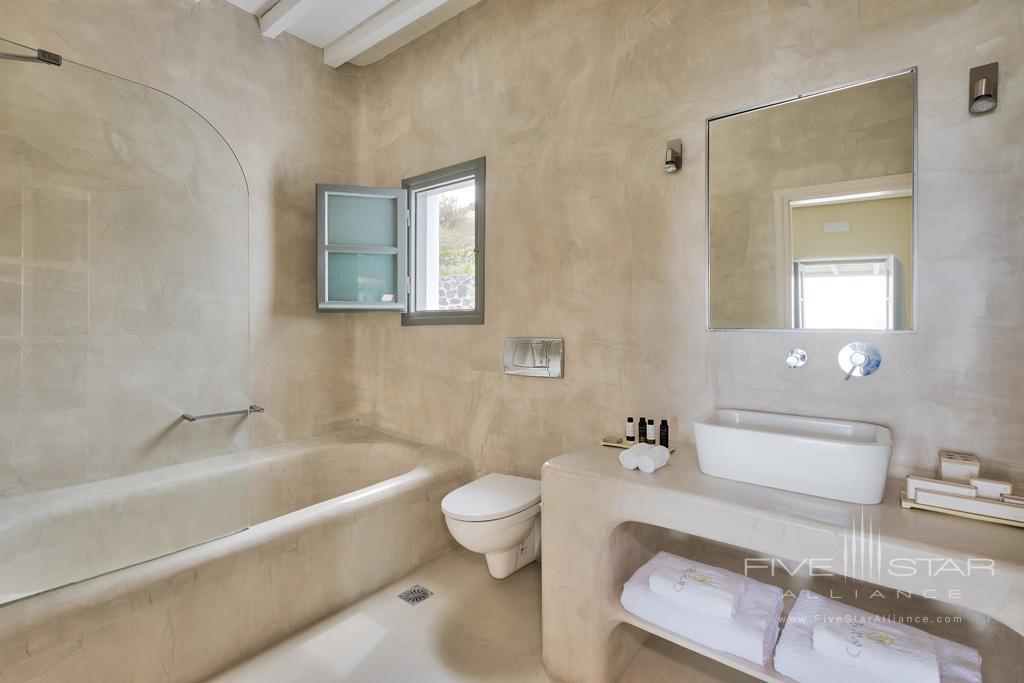 Guest Bath at Carpe Diem Santorini, Greece