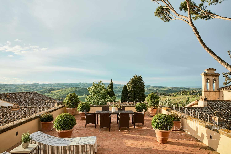 Terrace Views at COMO Castello Del Nero, Florence, Italy