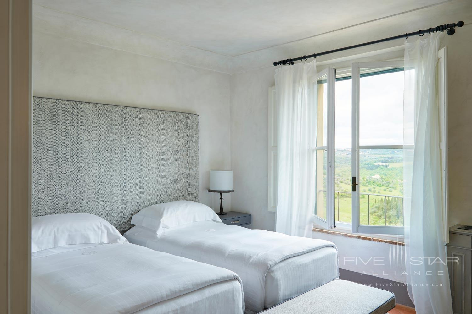 Double Guest Room at COMO Castello Del Nero, Florence, Italy