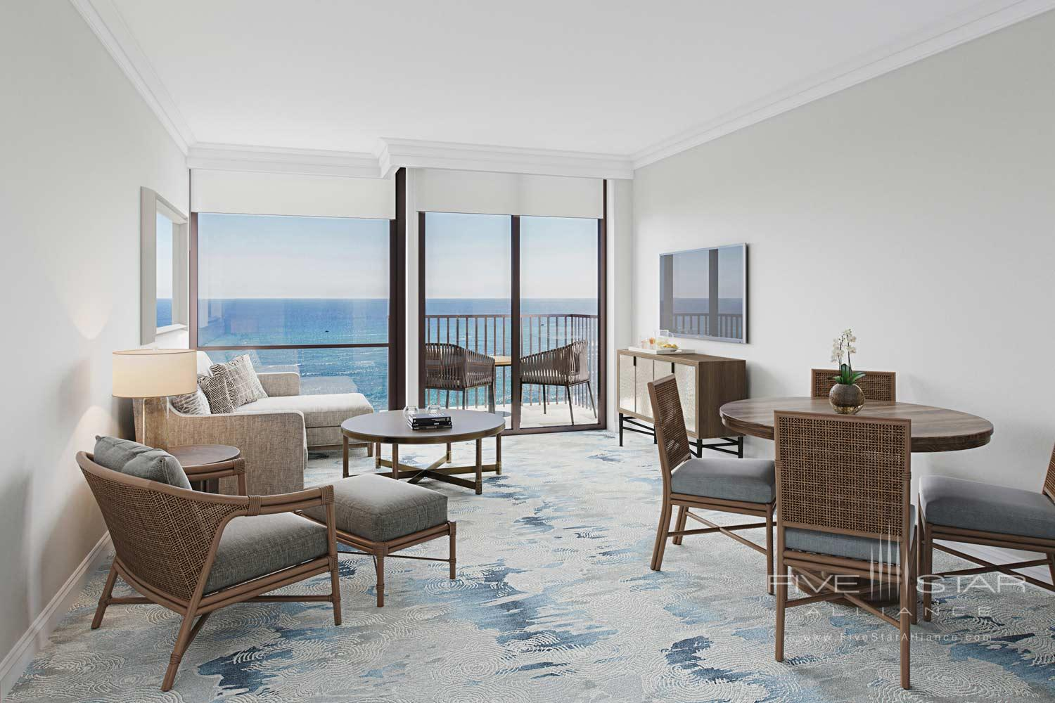 Ocean Suite Living Room at Halepuna Waikiki, Honolulu, United States