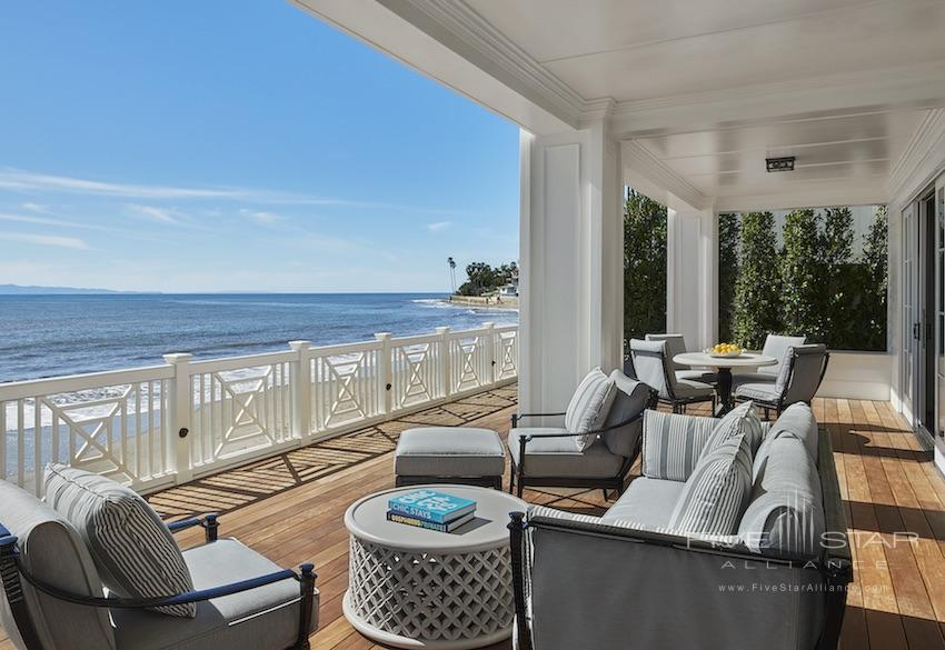 Beach House Suite Terrace at Rosewood Miramar Beach Montecito