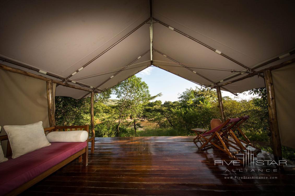 Guest Lounge at Karen Blixen Camp, Maasai Mara, Kenya