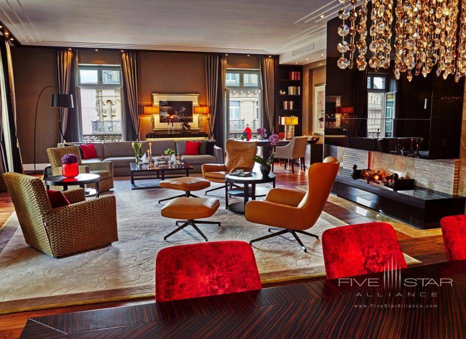 Suite Lounge at Steigenberger Frankfurter Hof, Germany