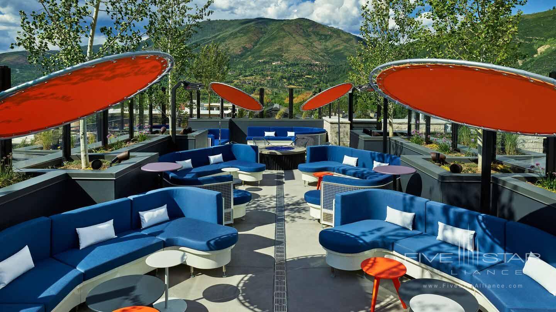Deck Lounge at W Aspen, CO