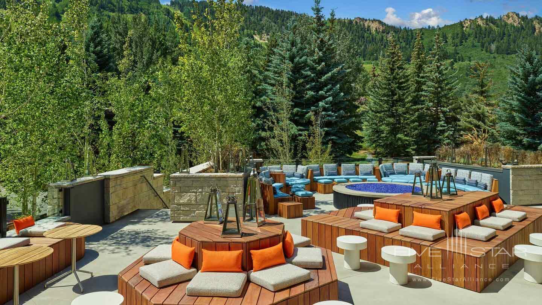 Living Room Terrace at W Aspen, CO