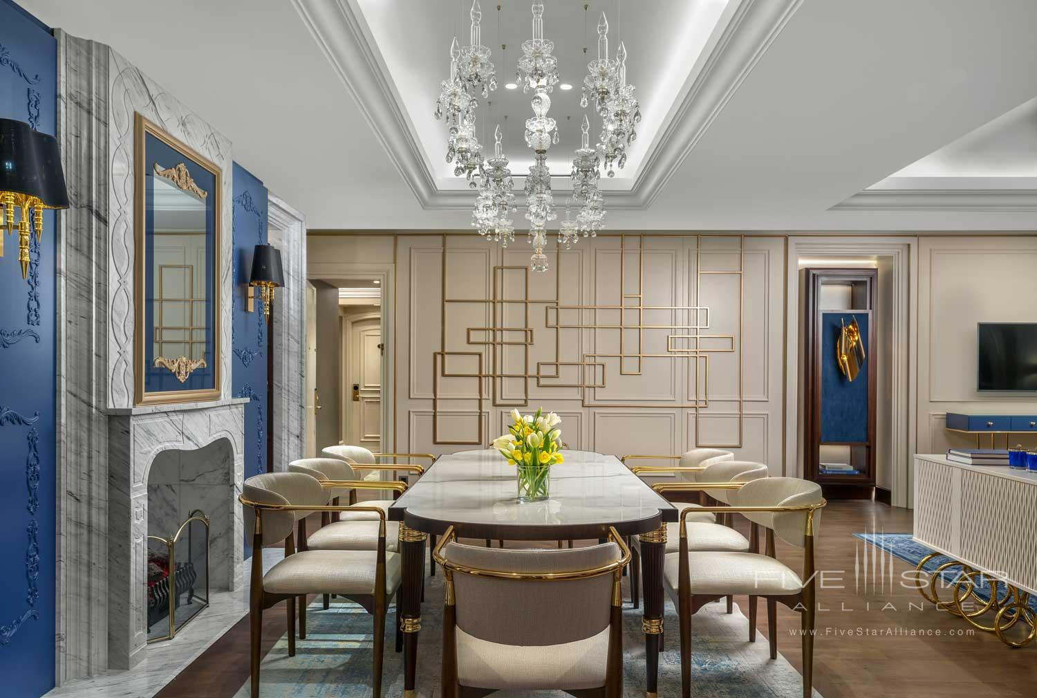 Suite Dining at Ritz Carlton Istanbul, Turkey