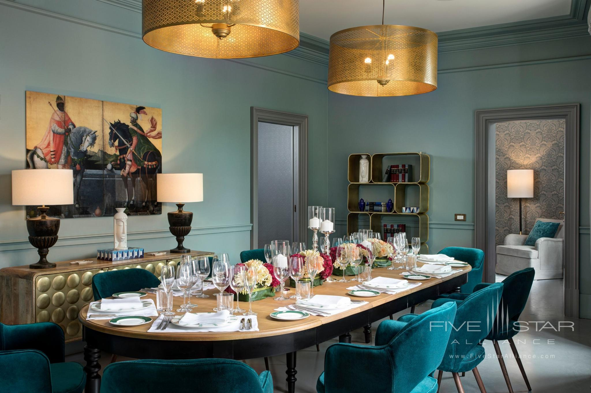 Rocco Forte House Roma Medici Suite dining