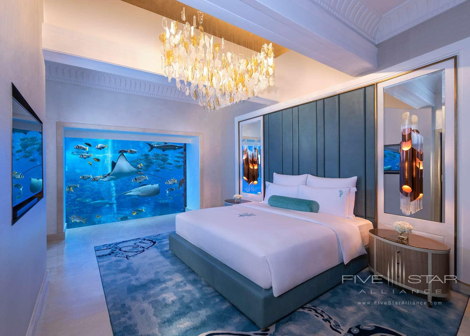 Underwater Suite Bedroom at Atlantis The Palm Dubai
