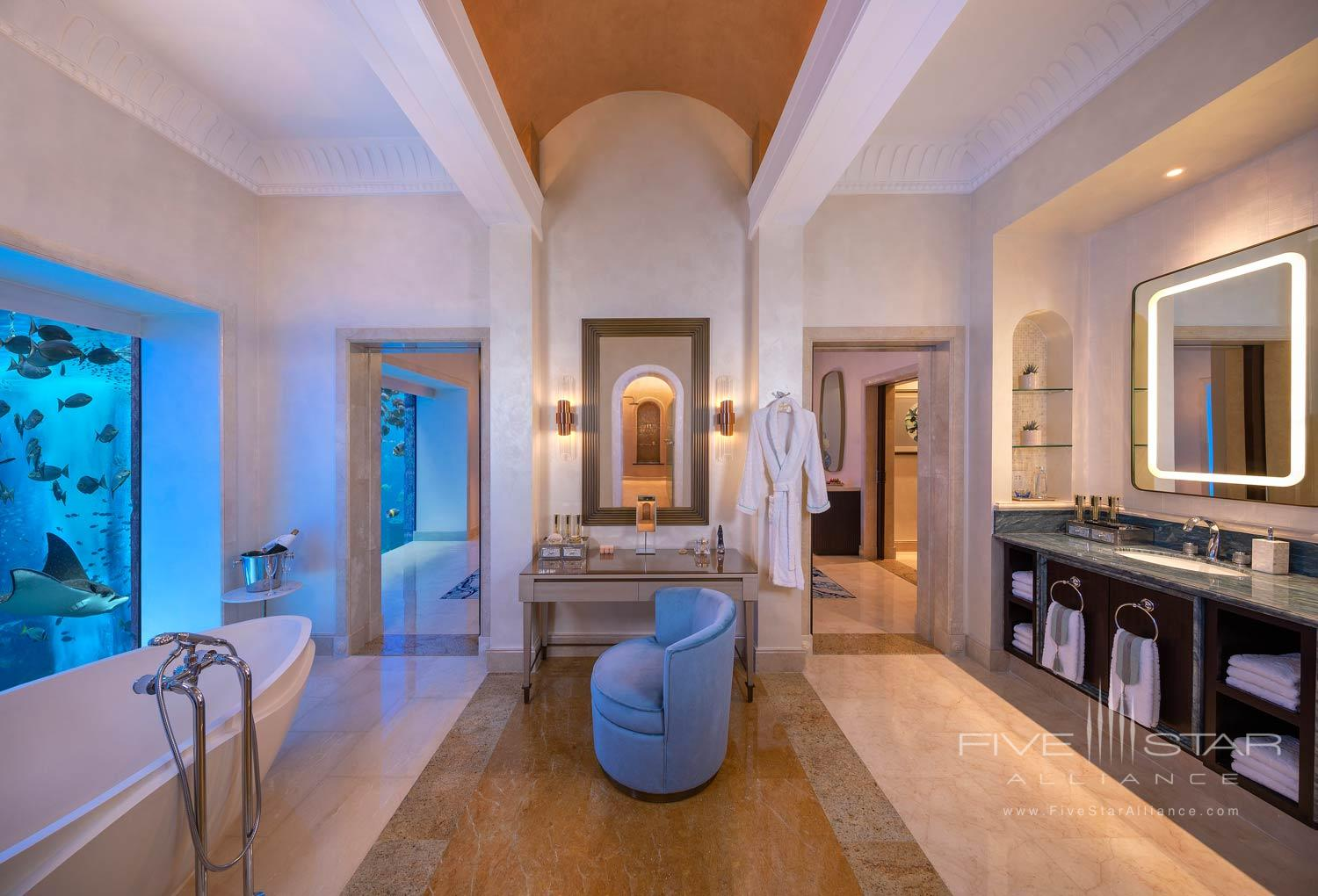 Underwater Suite Bathroom at Atlantis The Palm Dubai
