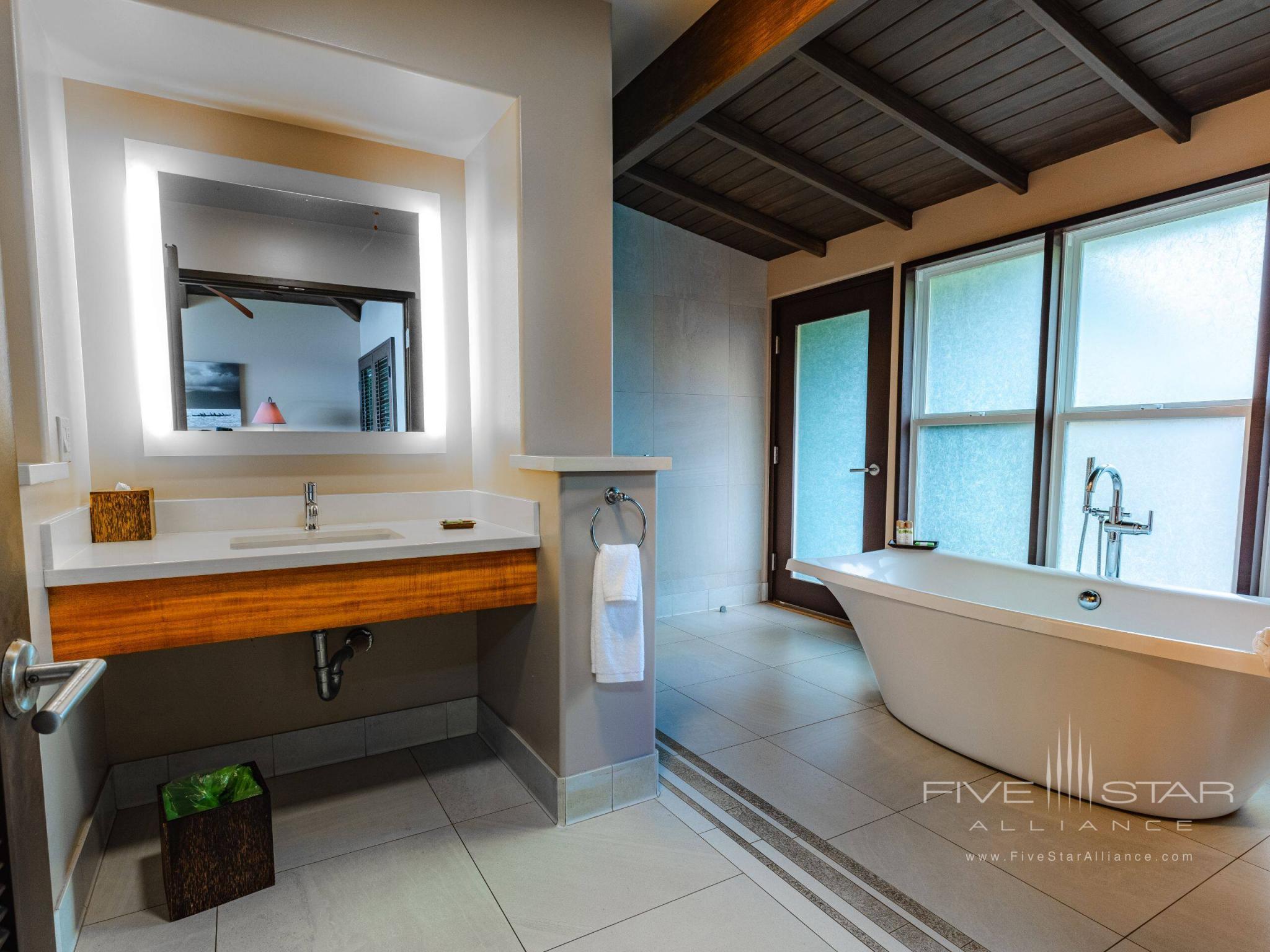 Hana-Maui Oceanfront Bungalow Bathroom