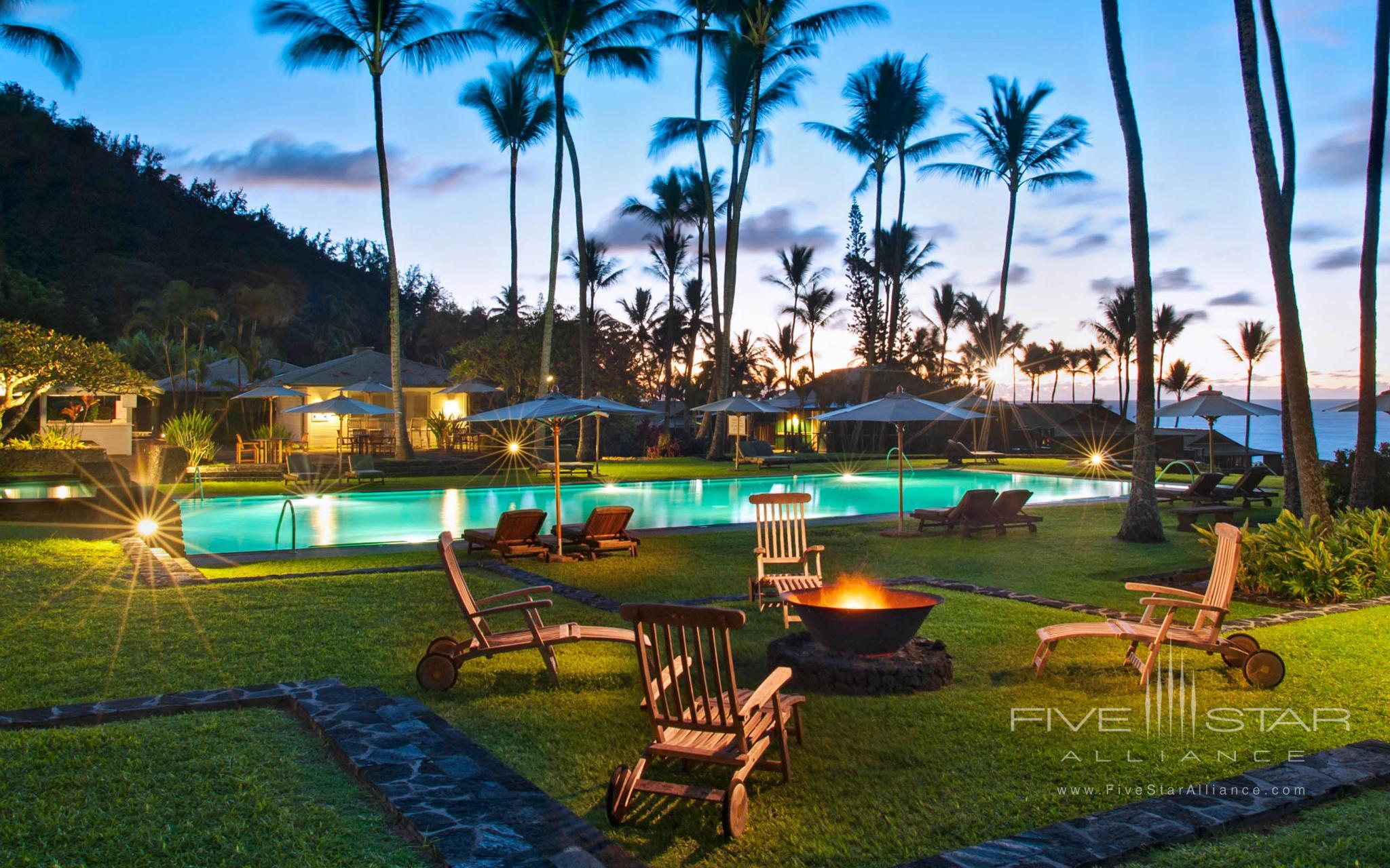 Hana Maui Pool and Campfire