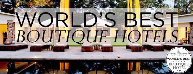 Best boutique hotels 2014 five star alliance for Best small hotels in the world