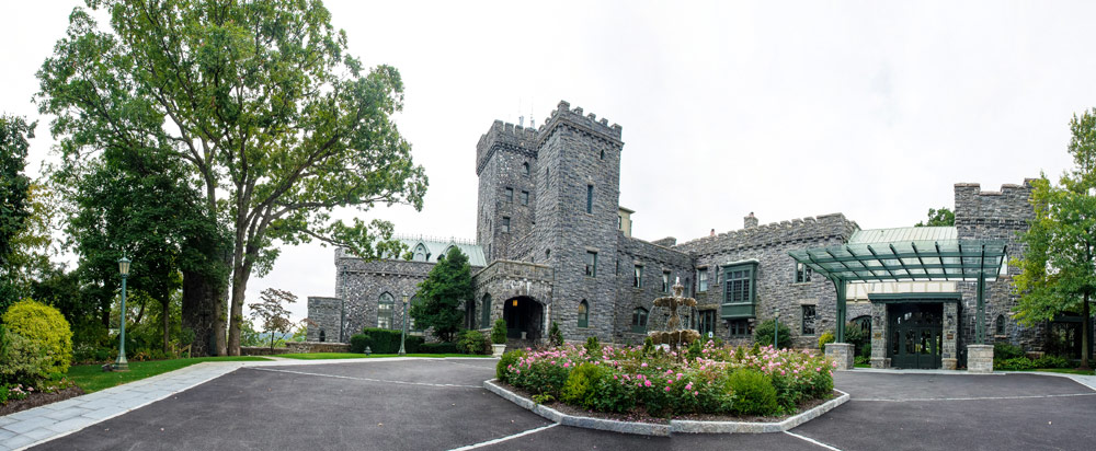 Entrance to Castle Hotel and Spa Tarrytown, NY
