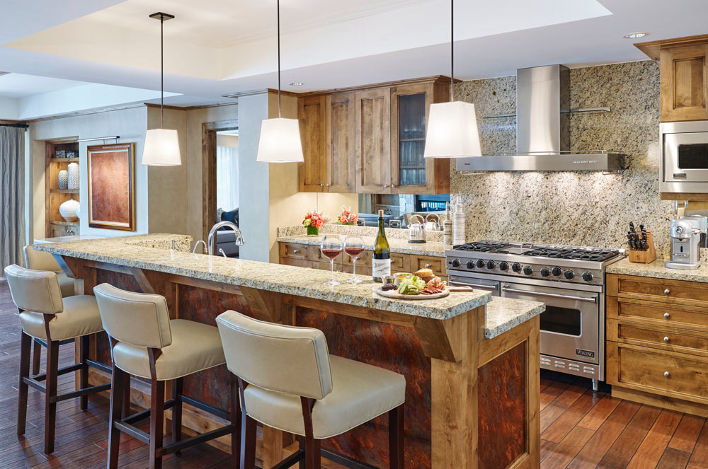 Three Bed Residence Kitchen at The Little Nell, Aspen, CO