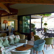Lounge and Outdoor Dining Area at Hotel Crillon Le Brave